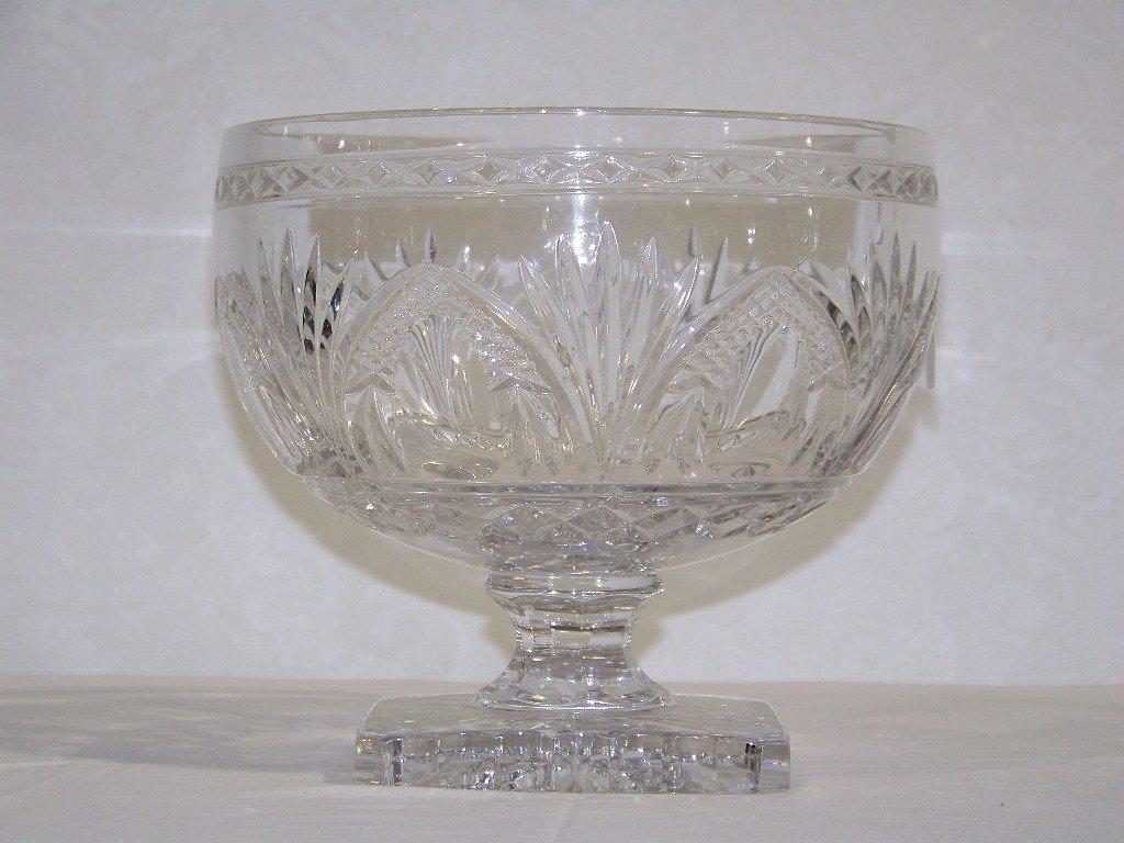 Large Baccarat Quality Cut Crystal Bowl