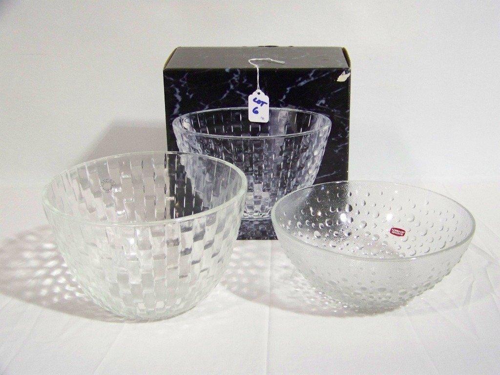 Pair of Modern Glass Bowls, Svend Jensen & Metro Bowl