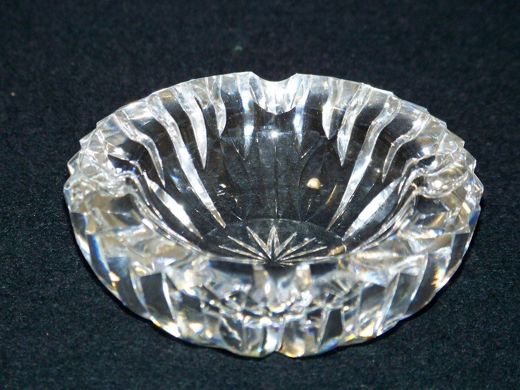 Fine Waterford Cut Crystal Personal Ashtray - 2