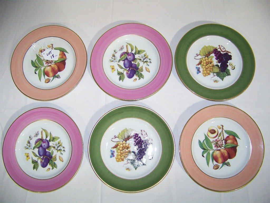 Great Set of 6 Limoges Fruit Plates