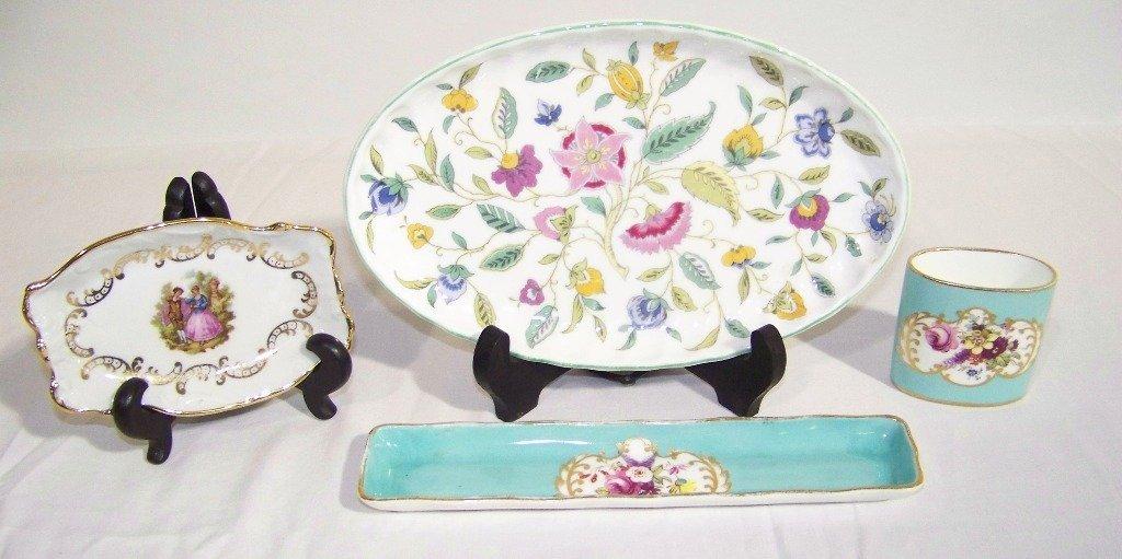 4 Vintage English Porcelain Pcs. Hammersley,Minton & Li
