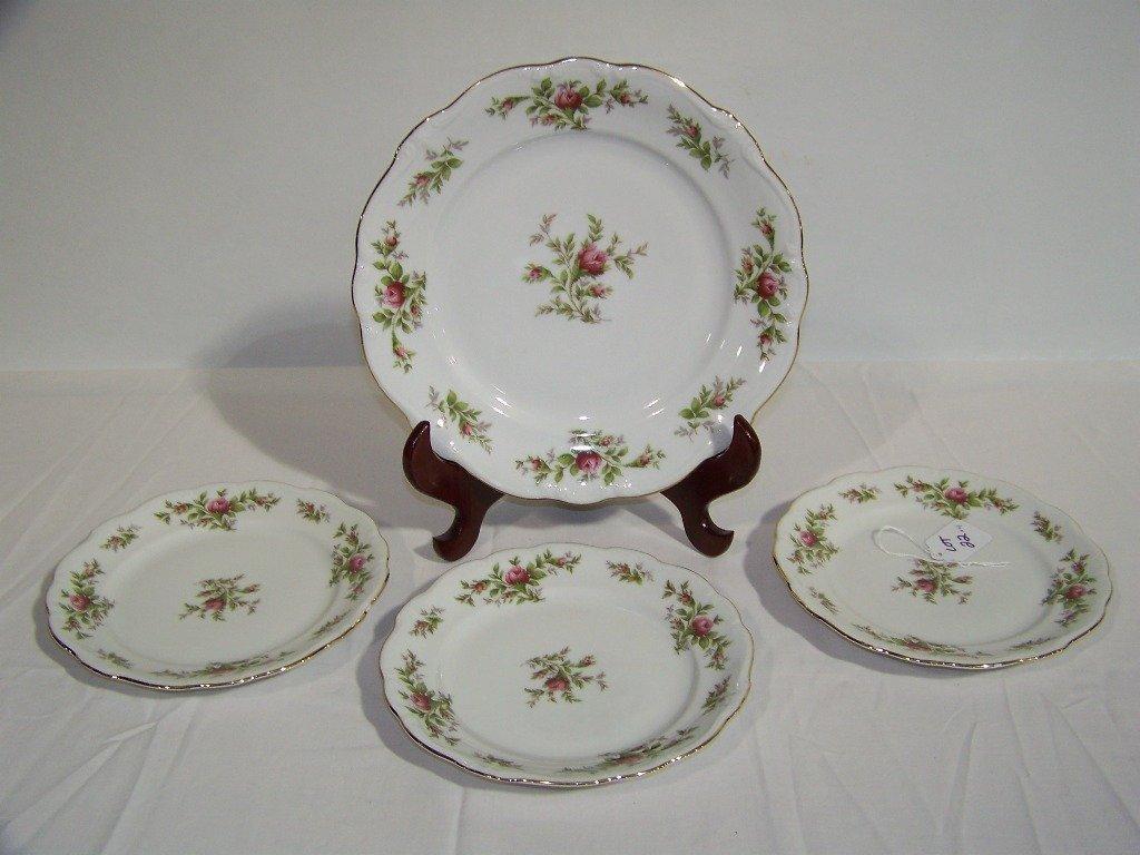 4 Vintage Johann Haviland Bavaria Germany Plates