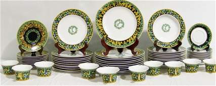 """VERSACE """" Gold Ivy """" China Service for 10"""