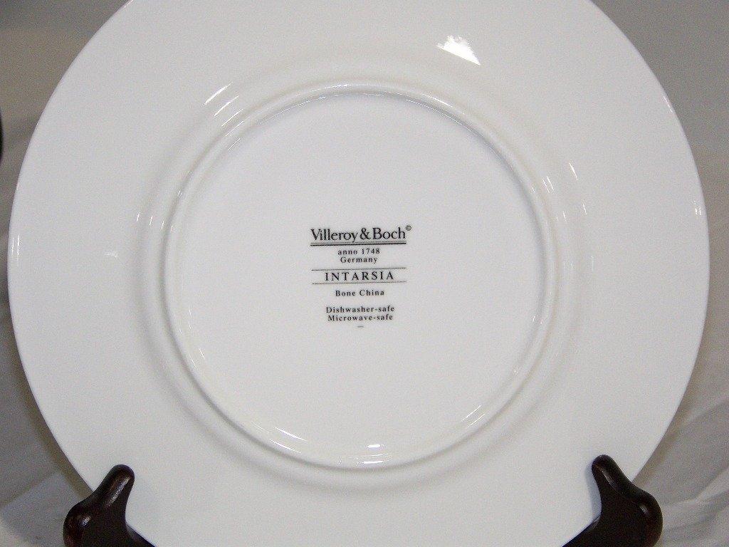 """Villeroy & Boch """"Intarsia """"Pattern Dinner Service 57 Pc - 8"""