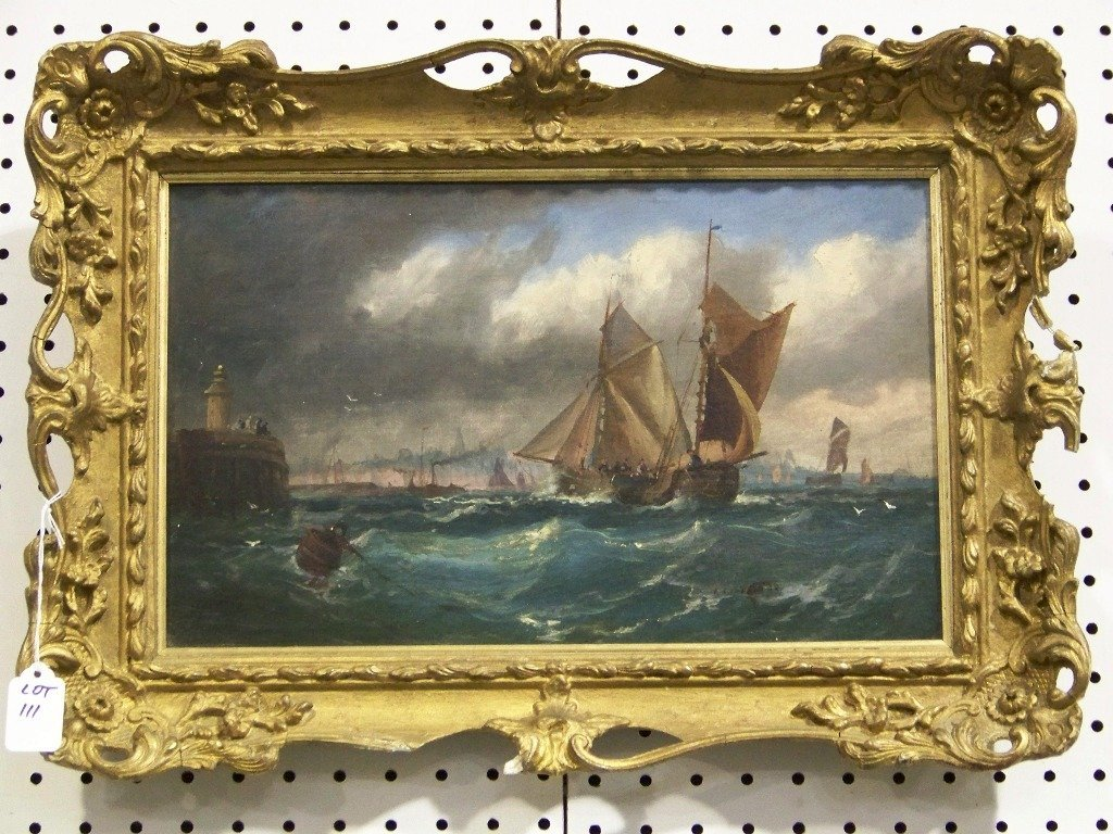 George D. Callow (BRITISH ) Oil on Canvas Sailing Ships