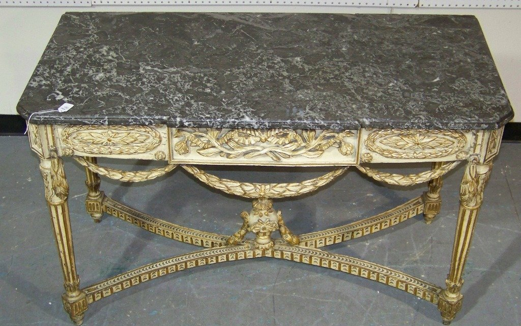 18/19th C. Ornate French / Italian Marble Top Console - 2