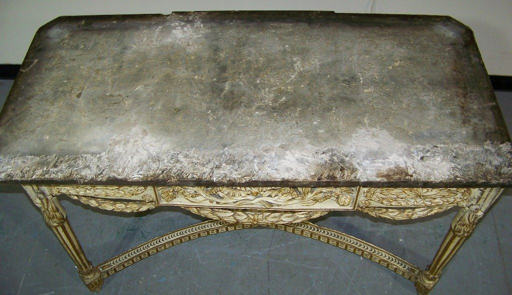 18/19th C. Ornate French / Italian Marble Top Console - 7