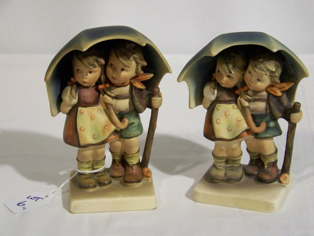 """Pair Early M.J.Hummel Figure's """" Stormy Weather"""""""
