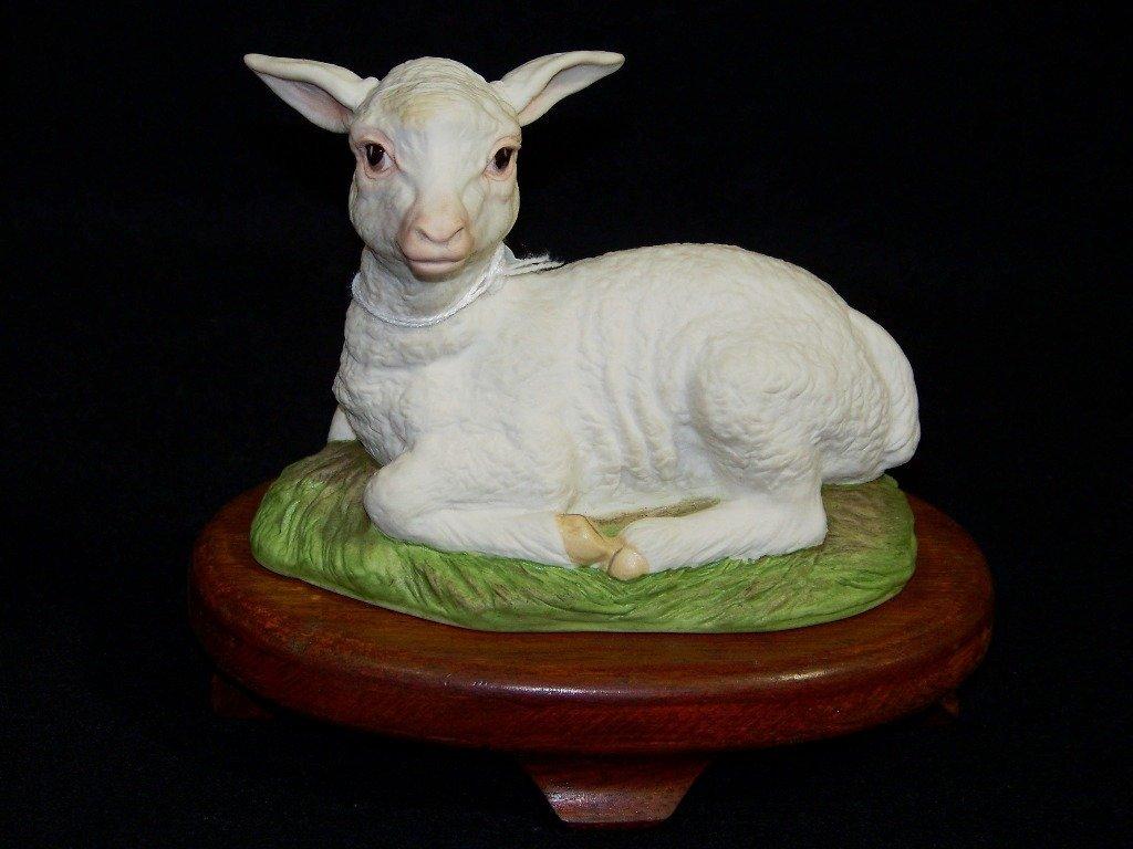 Vintage Boehm Porcelain Figure of a Lamb #400-97