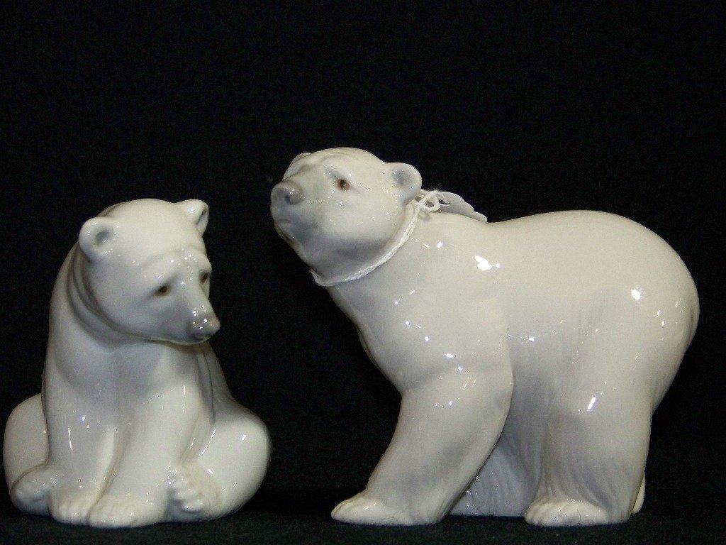 Pair Lladro Polar Bears