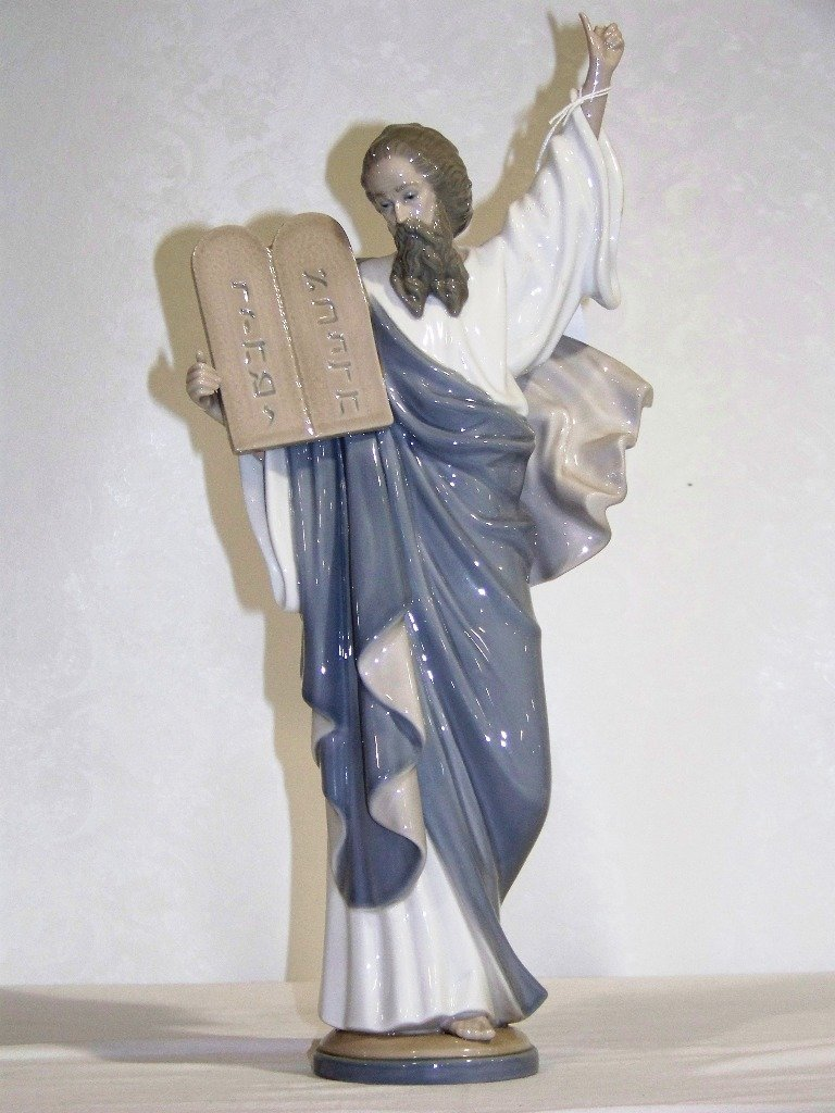 """16"""" lladro Figure of Moses with Tablet"""