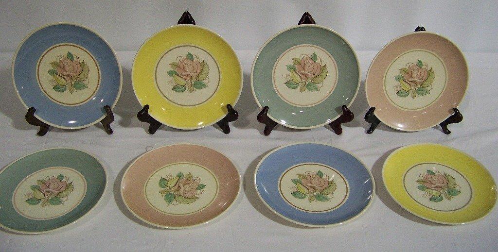 "8 Vintage ""Susie Cooper"" Hand Painted Plates"