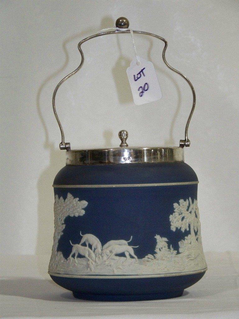 Early Adam's Jasperware Biscuit Jar