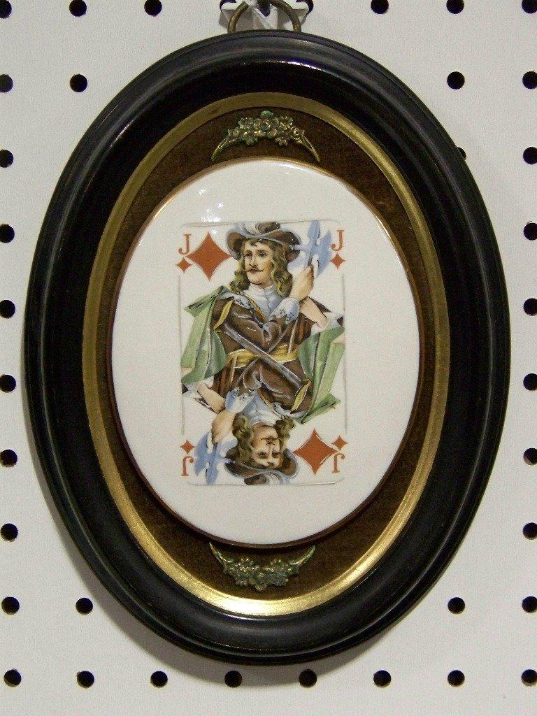 Vintage Sungott Studios Porcelain Plaque Jack Diamonds