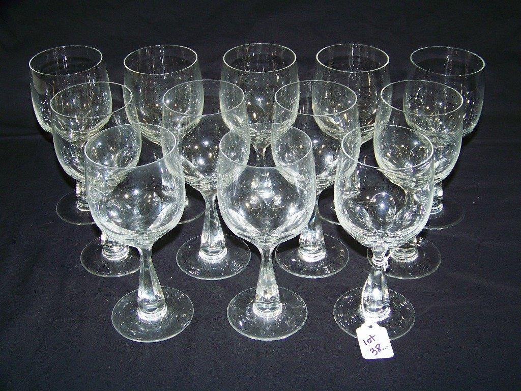 12 Vintage Crystal Wine Glasses by Spode