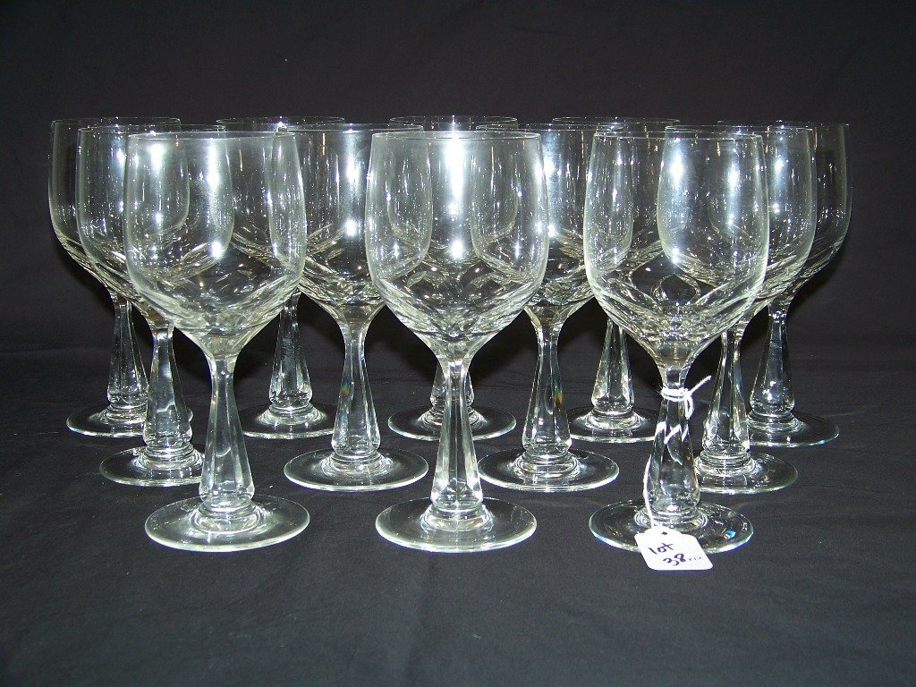 12 Vintage Crystal Wine Glasses by Spode - 2