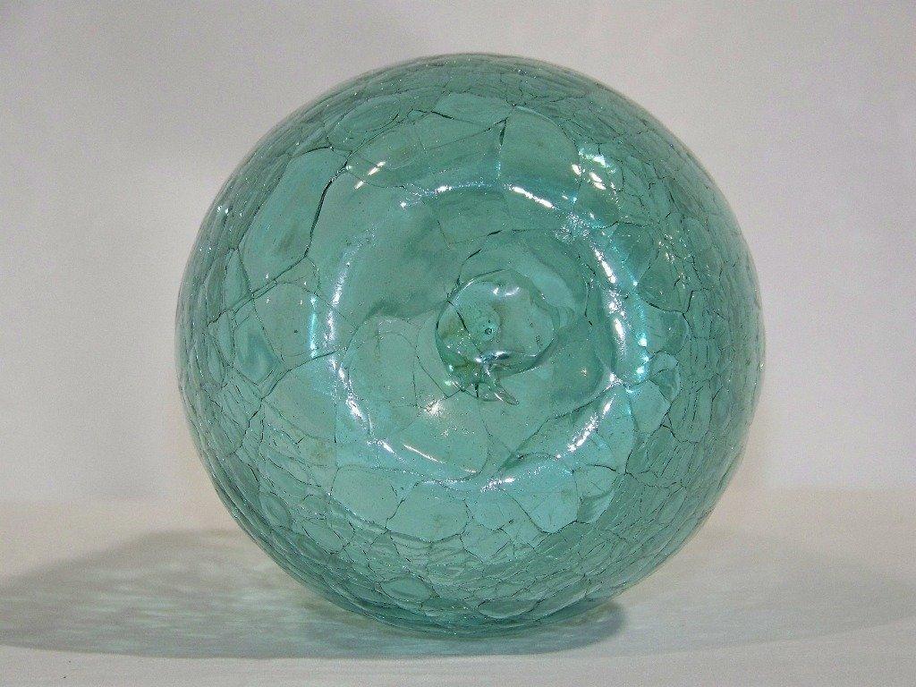 """Early Blenko Crackle Glass Vase 12 1/2"""" Tall - 6"""