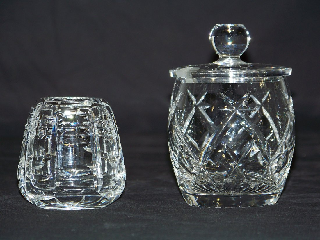 2 Pcs. of Waterford Crystal, Sugar Bowl & Ink Well