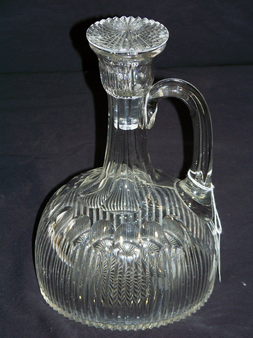 Very Fine Sharp Cut Signed Crystal Decanter