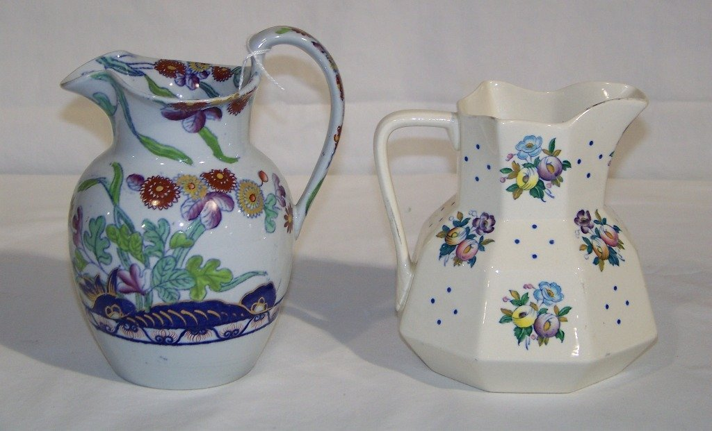 Pair of Antique Hand Painted Copeland Spode Pitcher's