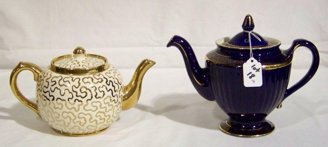 Great Pair of Early Tea Pots, Hall & Sudlow's