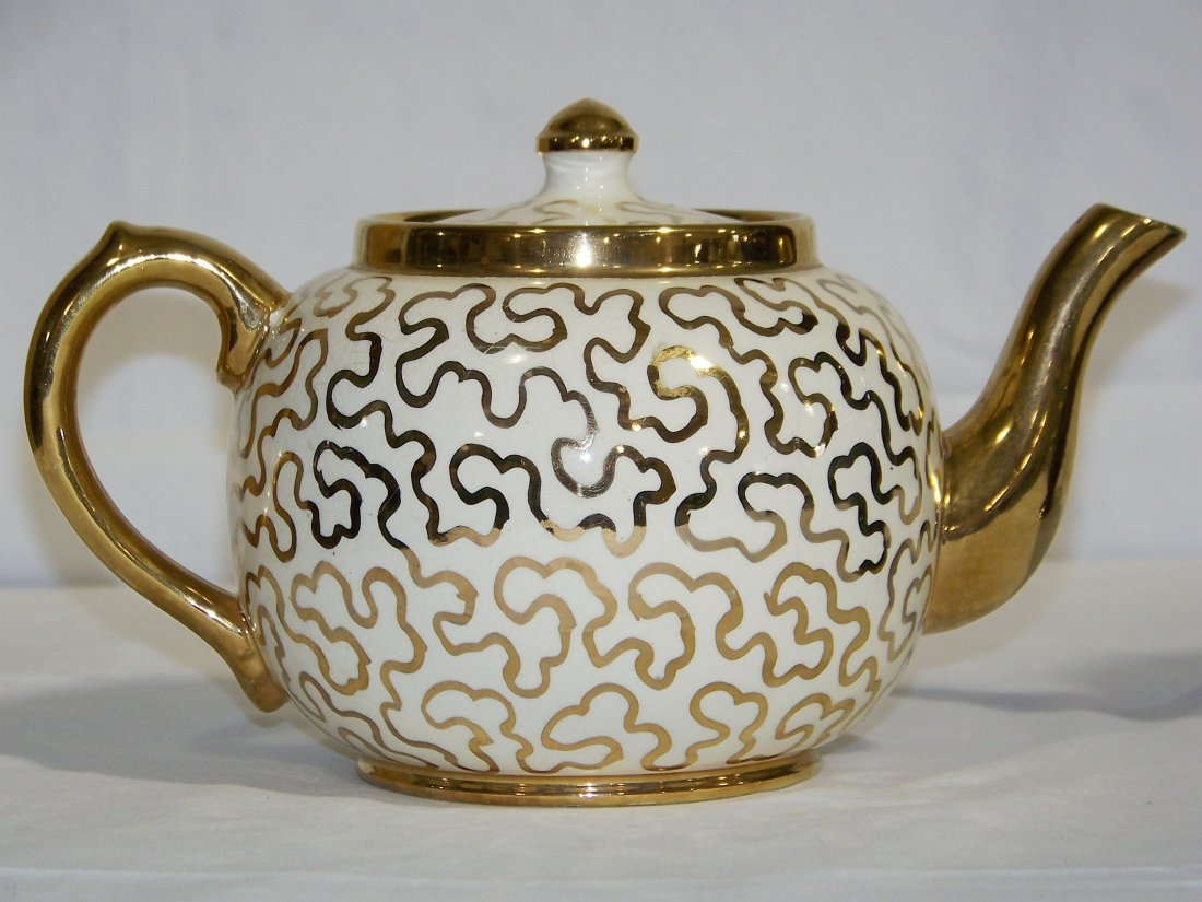 Great Pair of Early Tea Pots, Hall & Sudlow's - 2