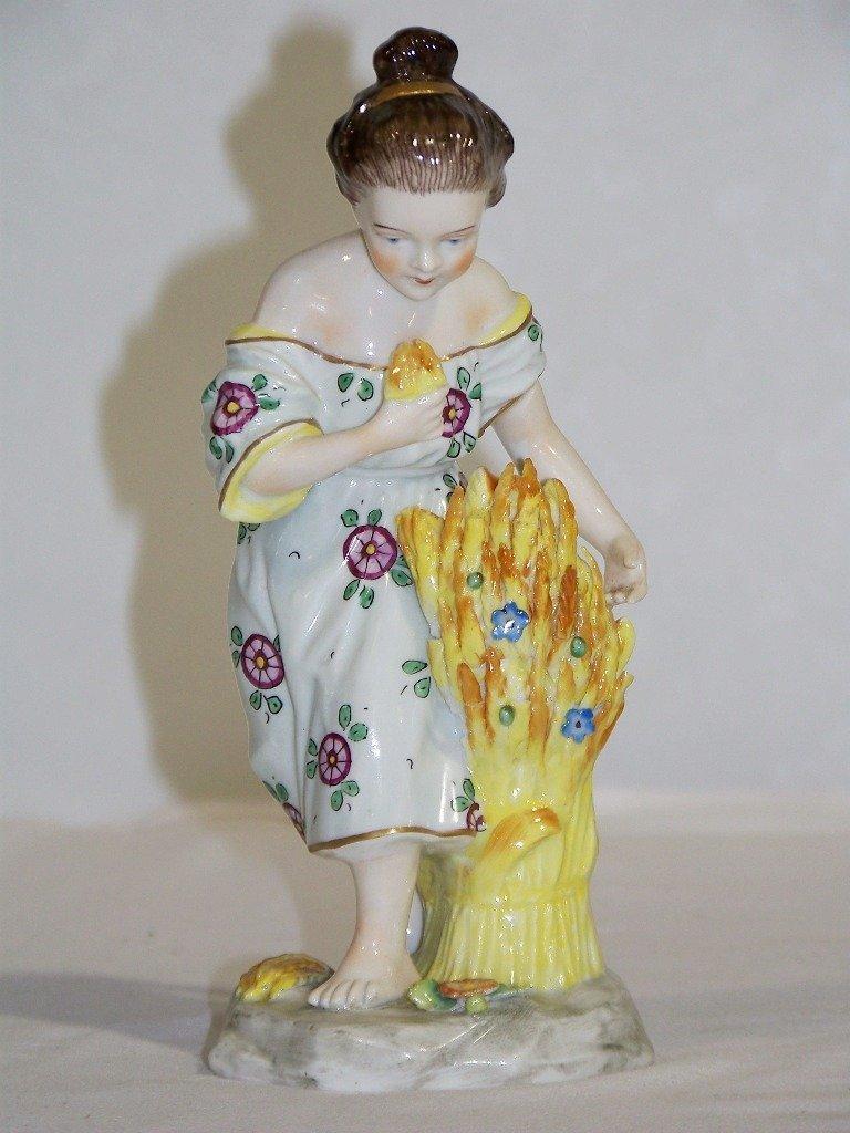 Pair Sitzendorf German Porcelain Figures,Man & Lady - 3