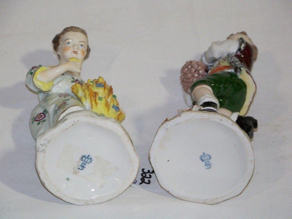 Pair Sitzendorf German Porcelain Figures,Man & Lady - 5