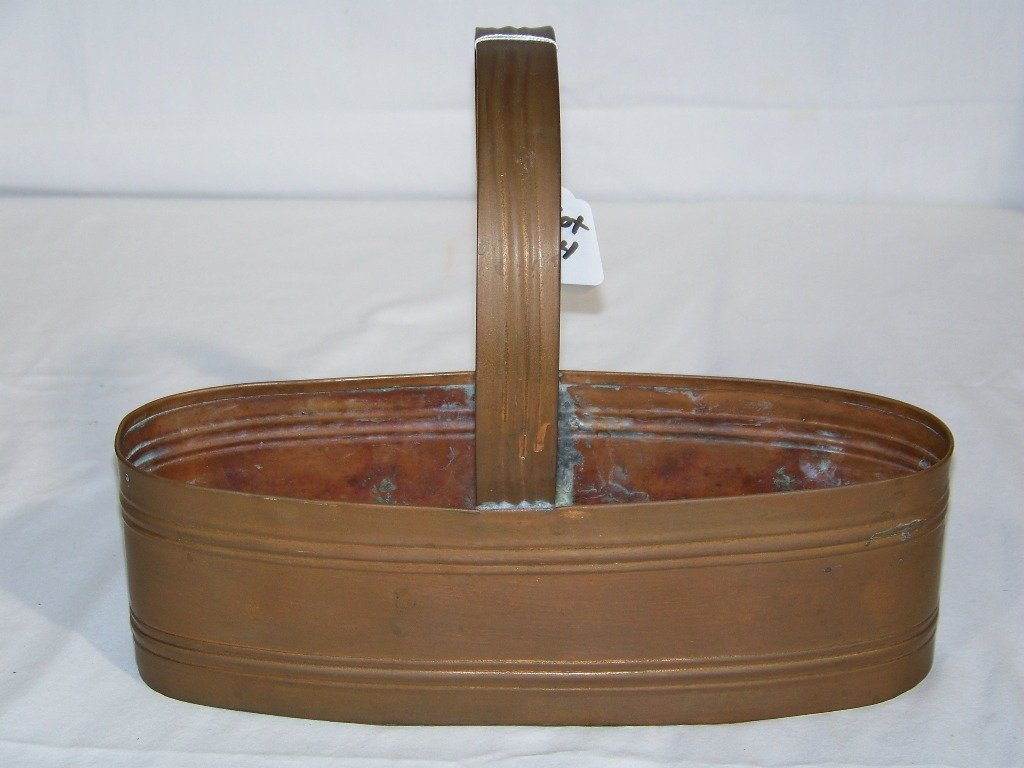Early Copper Handled Basket