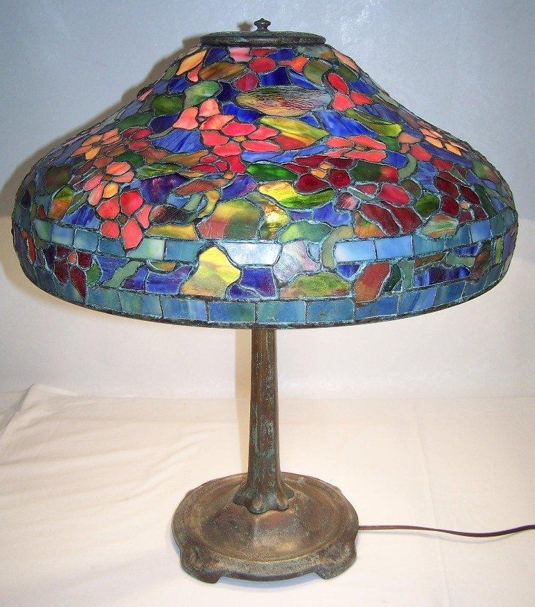 Tiffany Studios Lead Glass Table Lamp