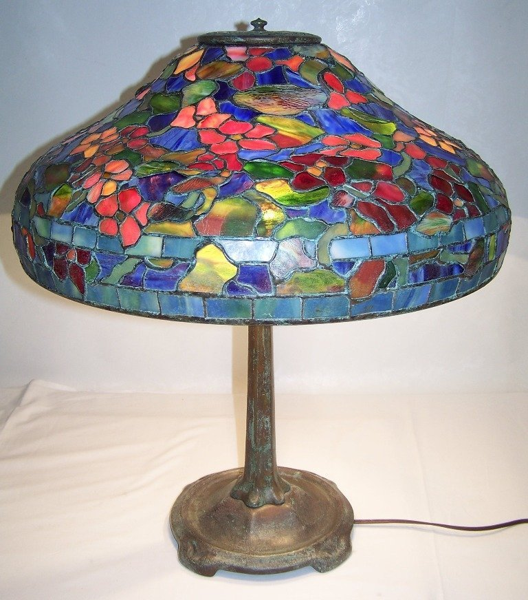 Tiffany Studios Lead Glass Table Lamp