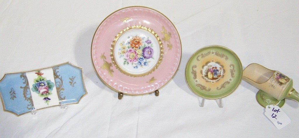 4 Vintage French Limoges Porcelain Pcs.