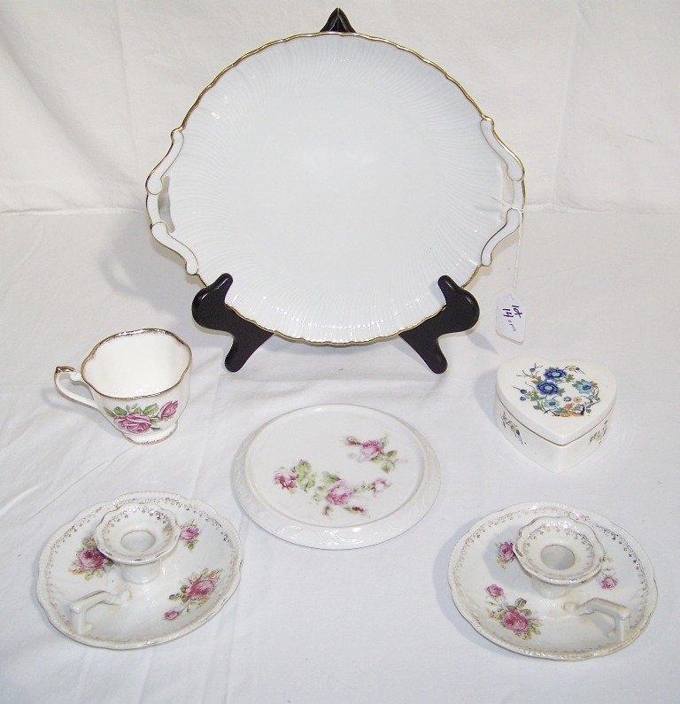 Large Group of Limoges & English Porcelain Pcs.