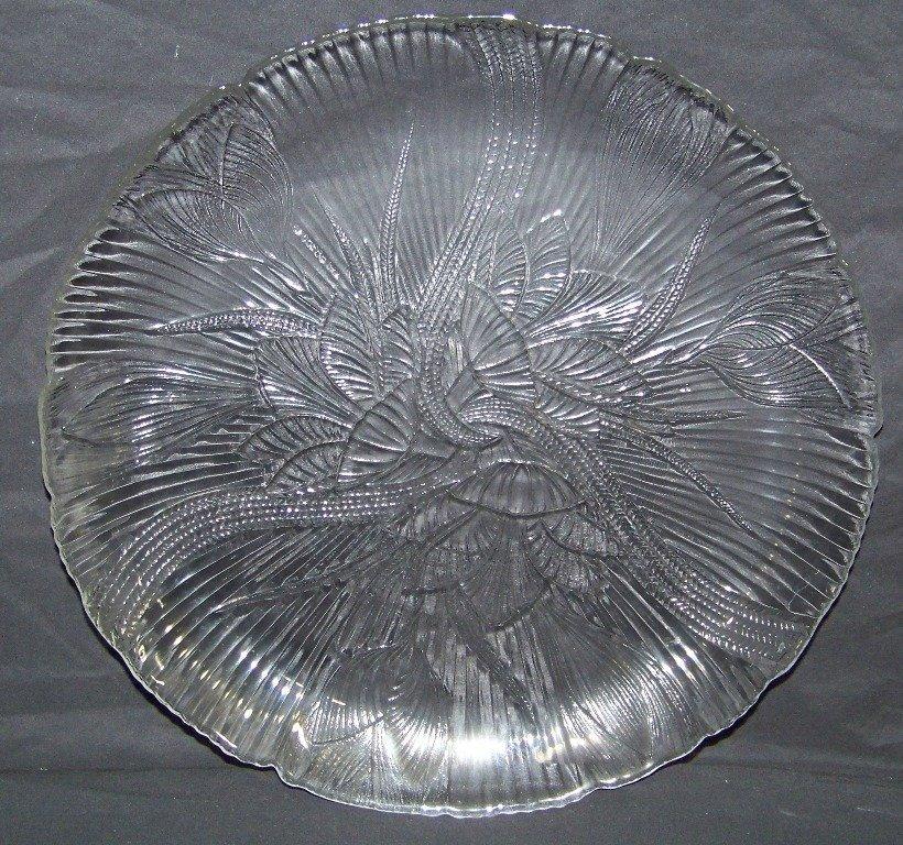 "12 Vintage Arcoroc France 11 3/4"" Floral Glass Plates - 4"