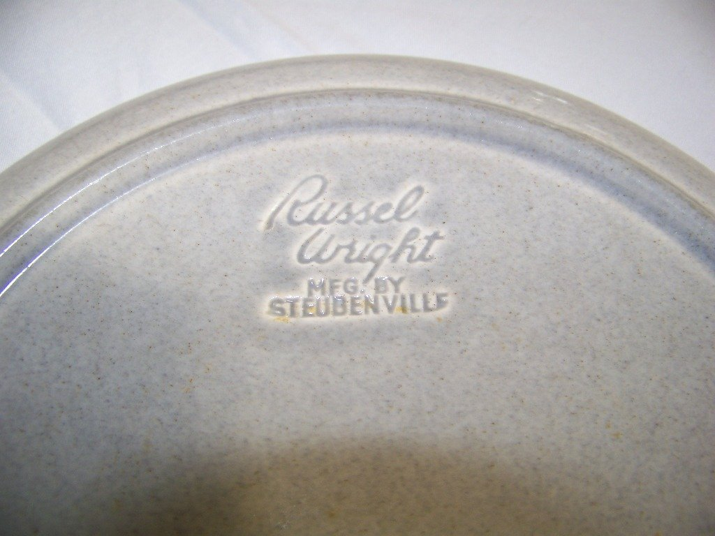 Large Red Wing Bowl & 5 Russel Wright Plates - 7