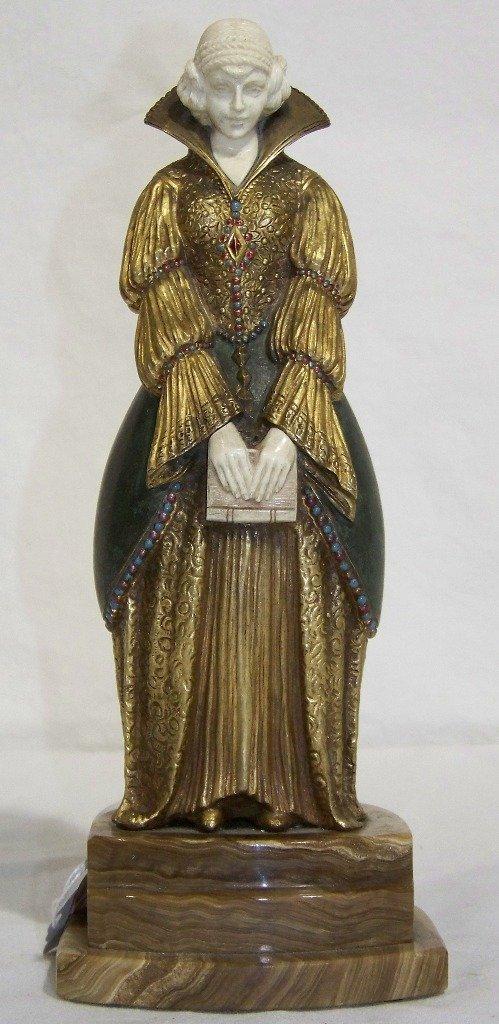 """DEMETRE CHIPARUS (Romanian 1886-1947) Bronze """"After R"""