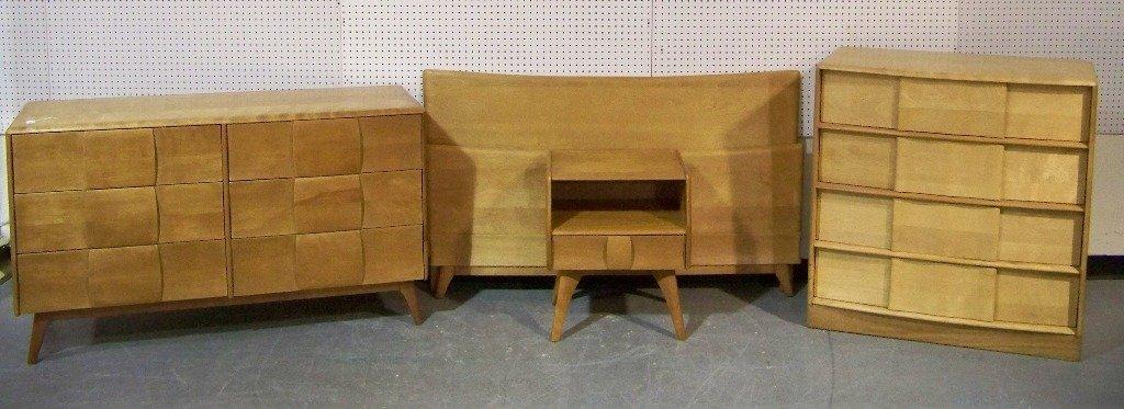 bedroom suite heywood wakefield kohinoor set maple furniture sculptura