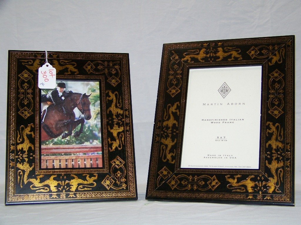 Of martin aborn italian decorative picture frames pair of martin aborn italian decorative picture frames jeuxipadfo Image collections