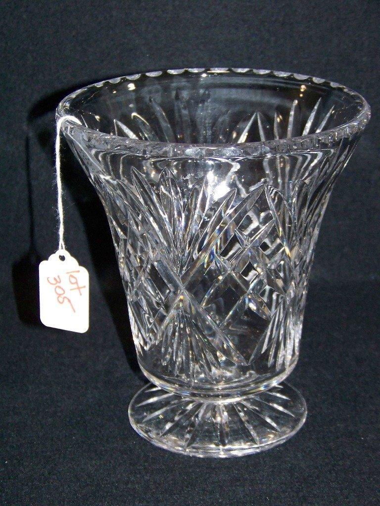 "Waterford Style 7 1/2"" Cut Crystal Vase"