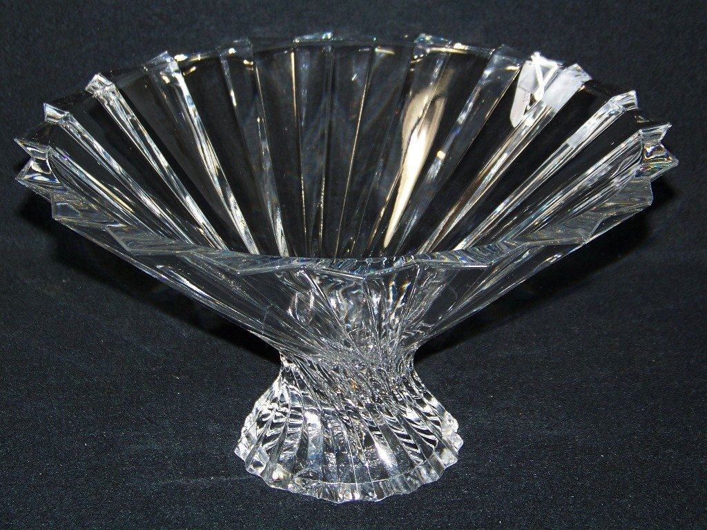 Baccarat Quality Swirl Glass Compote/Bowl
