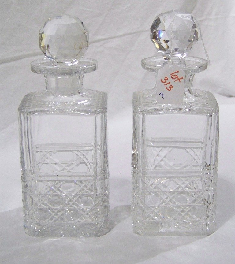 "Vintage Signed "" EDINBURGH"" Cut Crystal Decanter's"
