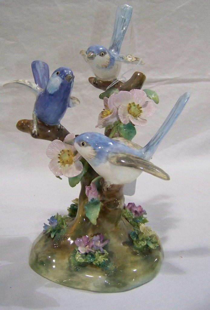 "Early Staffordshire Signed J.T. Jones ""Porcelain Bird's"