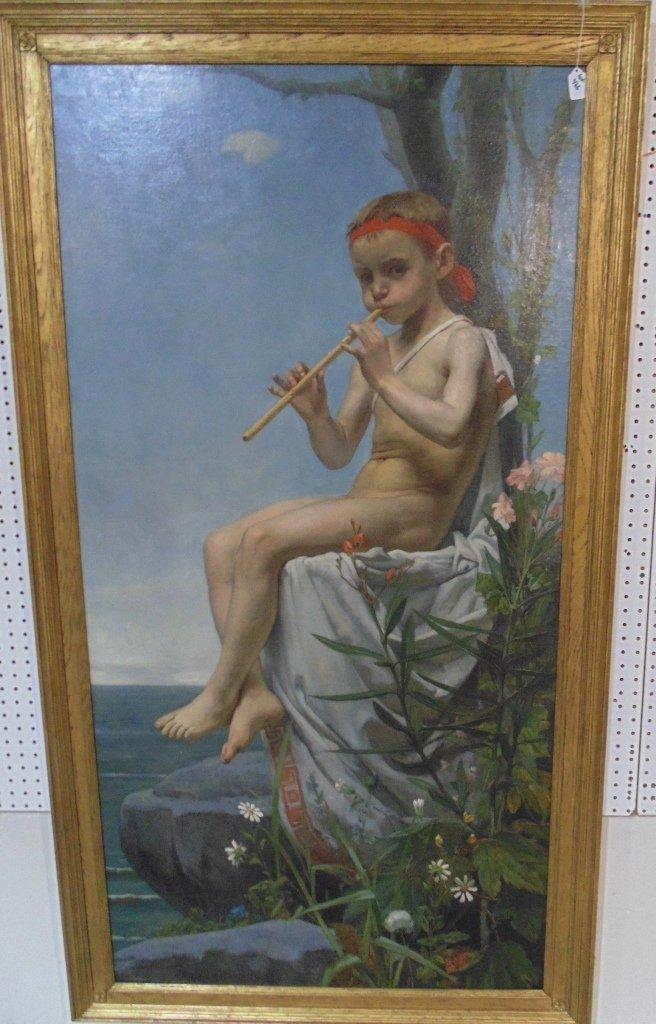 Hendrik J. Haverman (DUTCH, 1857-1928) O/C Young Apollo
