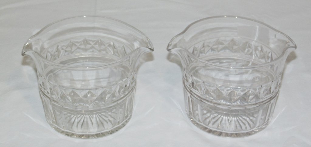 Pair of Fine Early Baccarat Quality Crystal Server's