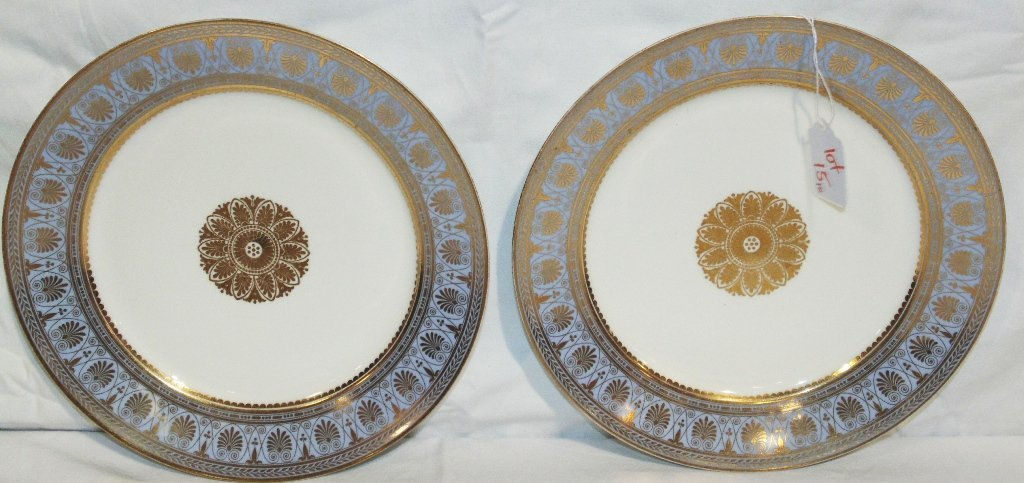 Pair of Fine Early Sevres Royal Porcelain Plates