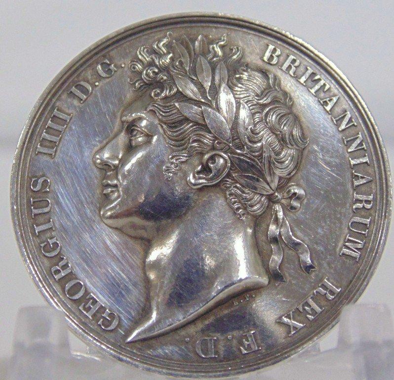 1821 GEORGIUS IIII SILVER MEDALLION