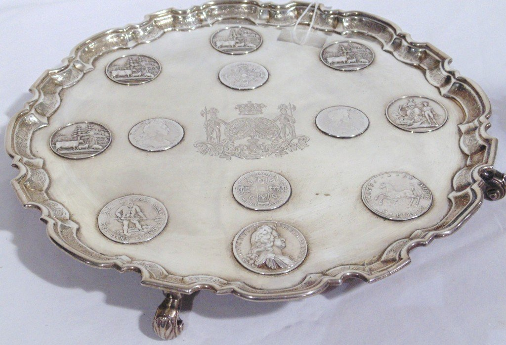 Geo.II Silver Salver by John Tuite,for Earl of Mayo