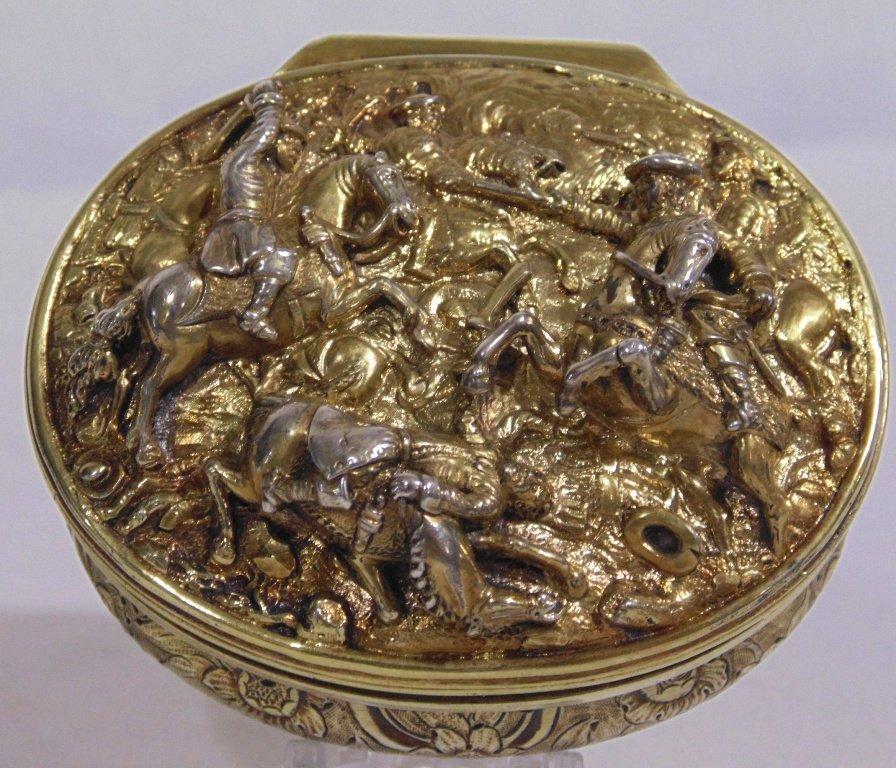 A GEORGE IV SILVER-GILT SNUFF BOX MARK OF EDWARD FARREL