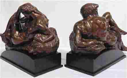 AFTER MICHELANGELO BUONARROTTI, NIGHT AND DAY BRONZES