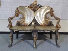 19th C.Venetian Grotto,Fantasy Furniture Settee